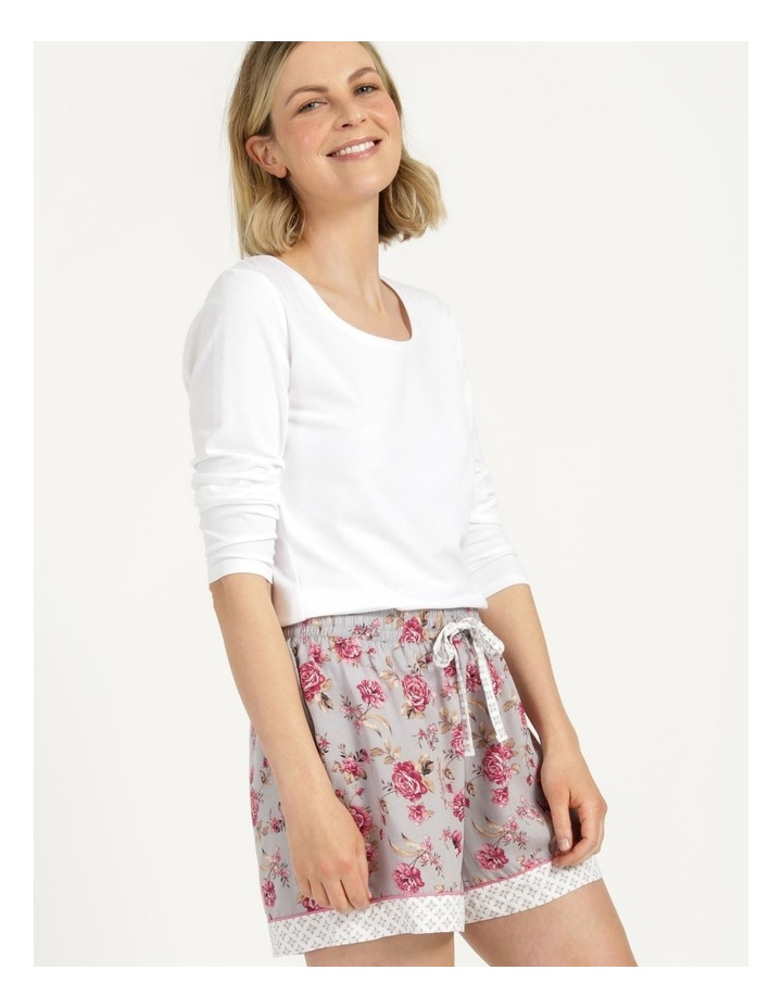 Woven Short Grey Floral image 1