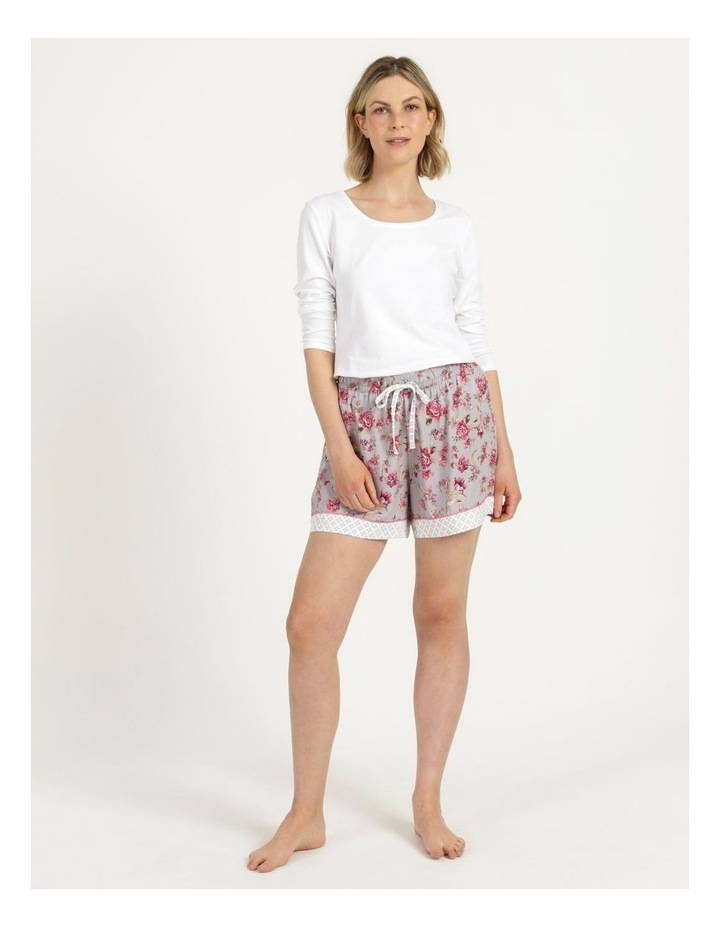 Woven Short Grey Floral image 2