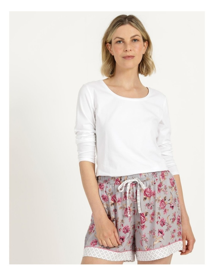 Woven Short Grey Floral image 3