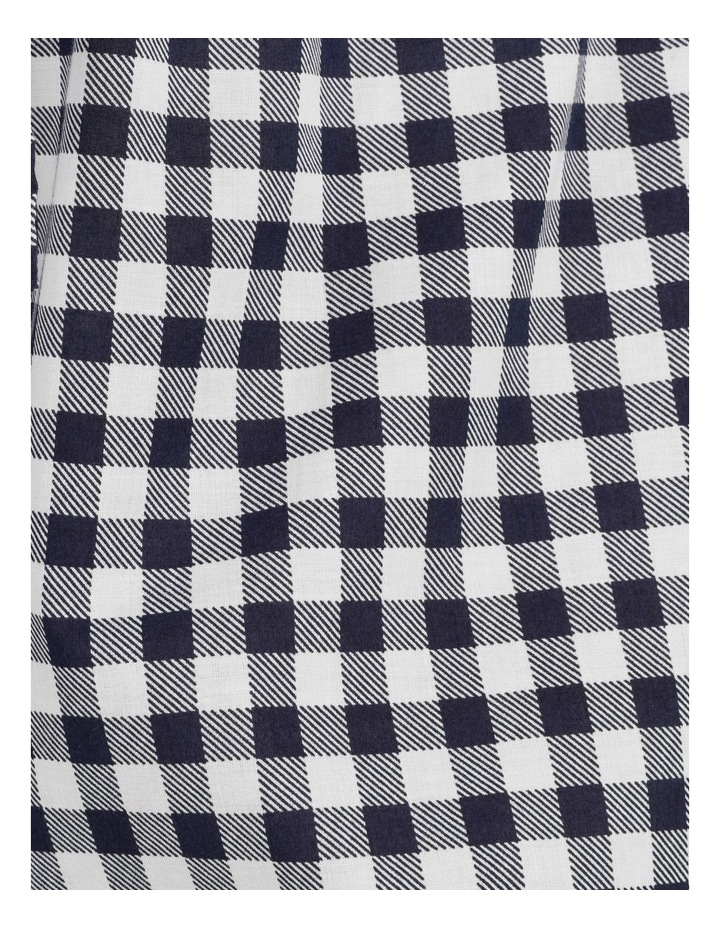 Organic Cotton Woven 3/4 Pant Navy Gingham image 7