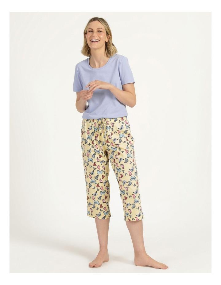 Organic Cotton Knit 3/4 Pant Yellow image 1