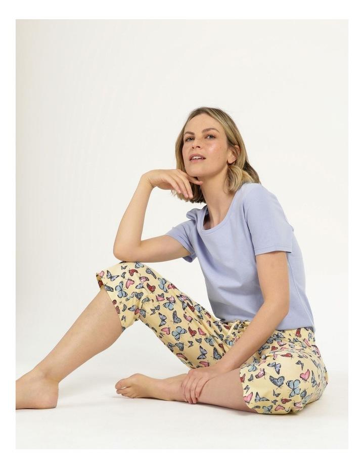 Organic Cotton Knit 3/4 Pant Yellow image 2