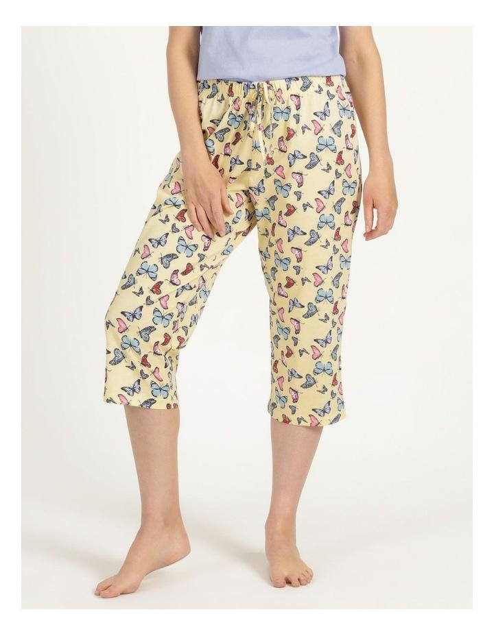 Organic Cotton Knit 3/4 Pant Yellow image 3