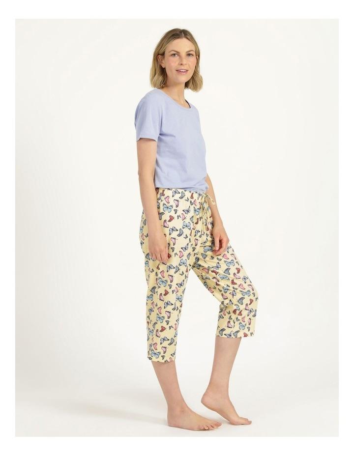 Organic Cotton Knit 3/4 Pant Yellow image 4