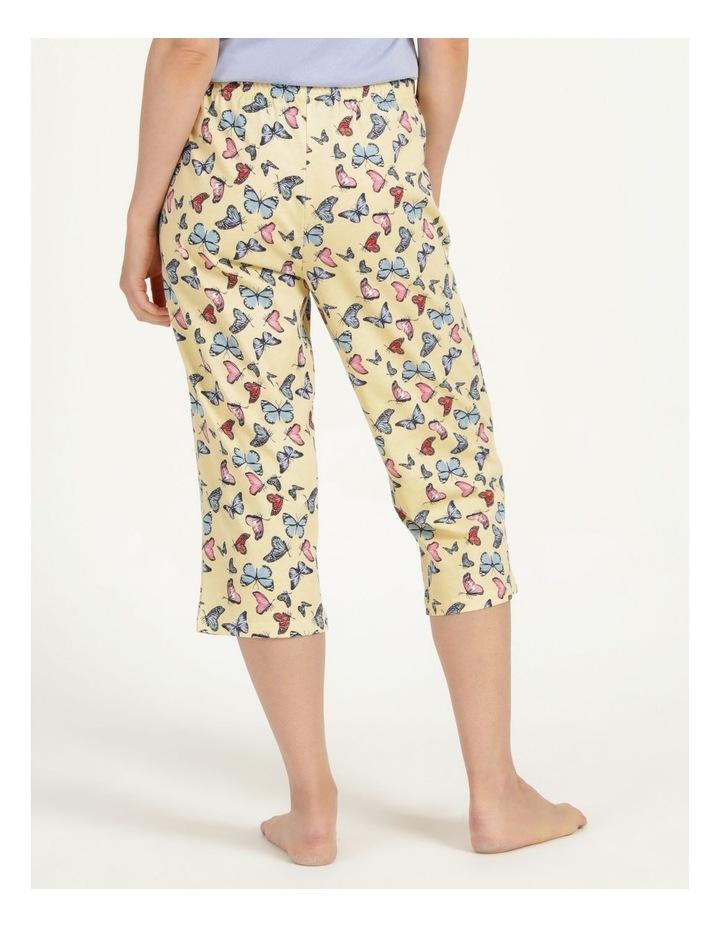 Organic Cotton Knit 3/4 Pant Yellow image 5