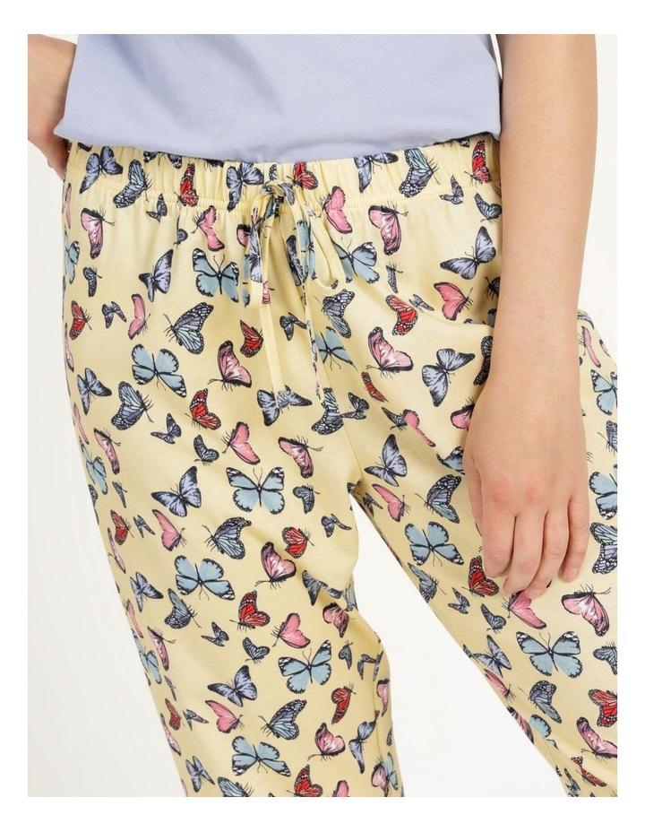 Organic Cotton Knit 3/4 Pant Yellow image 6