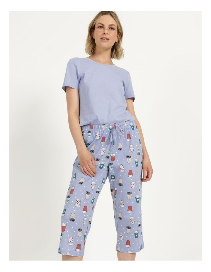 Organic Cotton Knit 3/4 Pant Blue image 1