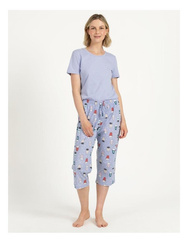 Organic Cotton Knit 3/4 Pant Blue image 2