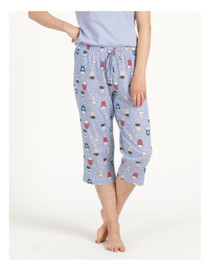 Organic Cotton Knit 3/4 Pant Blue image 3