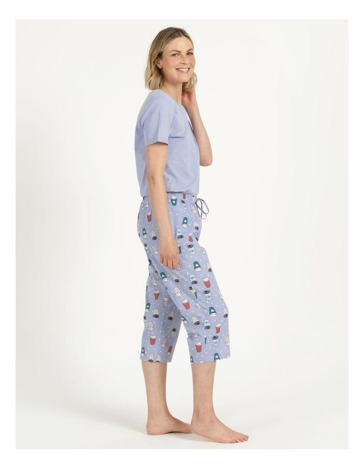 Organic Cotton Knit 3/4 Pant Blue image 4