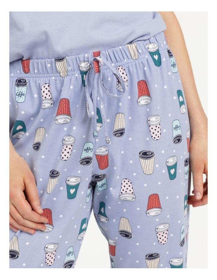 Organic Cotton Knit 3/4 Pant Blue image 6