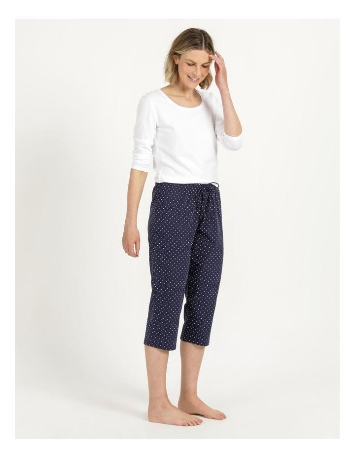 Organic Cotton Knit 3/4 Pant Navy image 1