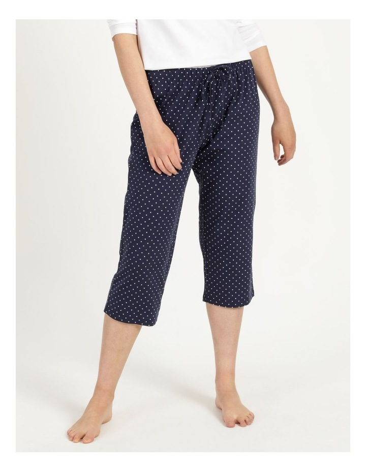 Organic Cotton Knit 3/4 Pant Navy image 2