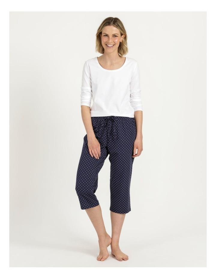 Organic Cotton Knit 3/4 Pant Navy image 3