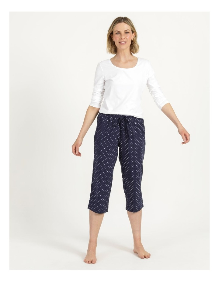Organic Cotton Knit 3/4 Pant Navy image 4