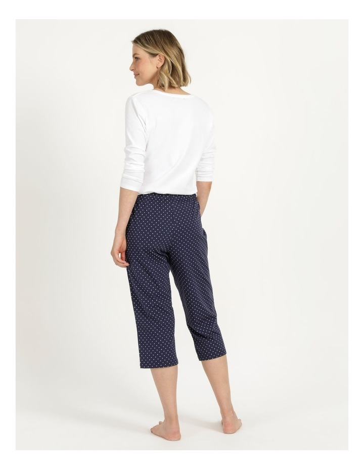 Organic Cotton Knit 3/4 Pant Navy image 5