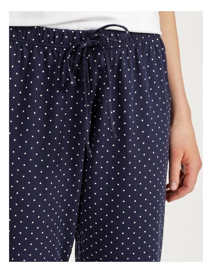 Organic Cotton Knit 3/4 Pant Navy image 6