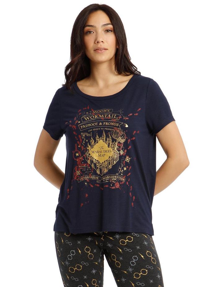 Harry Potter Knit Short Sleeve Pyjama Top image 1