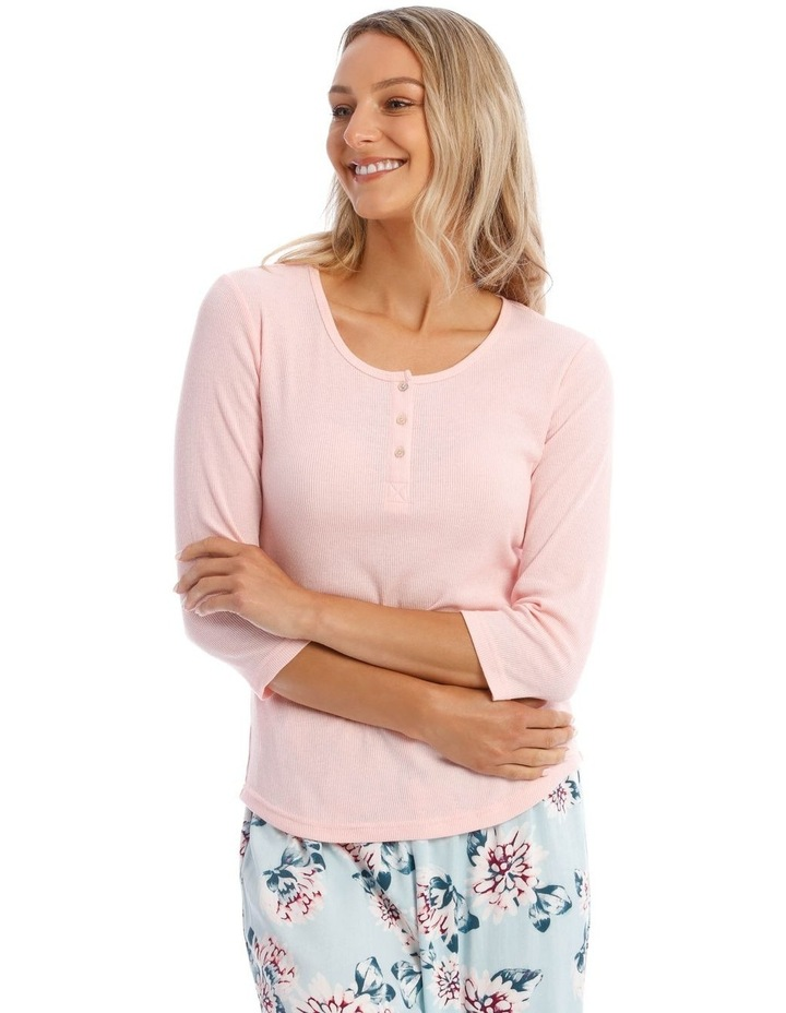 Long-Sleeve Knit Top in Pink image 1