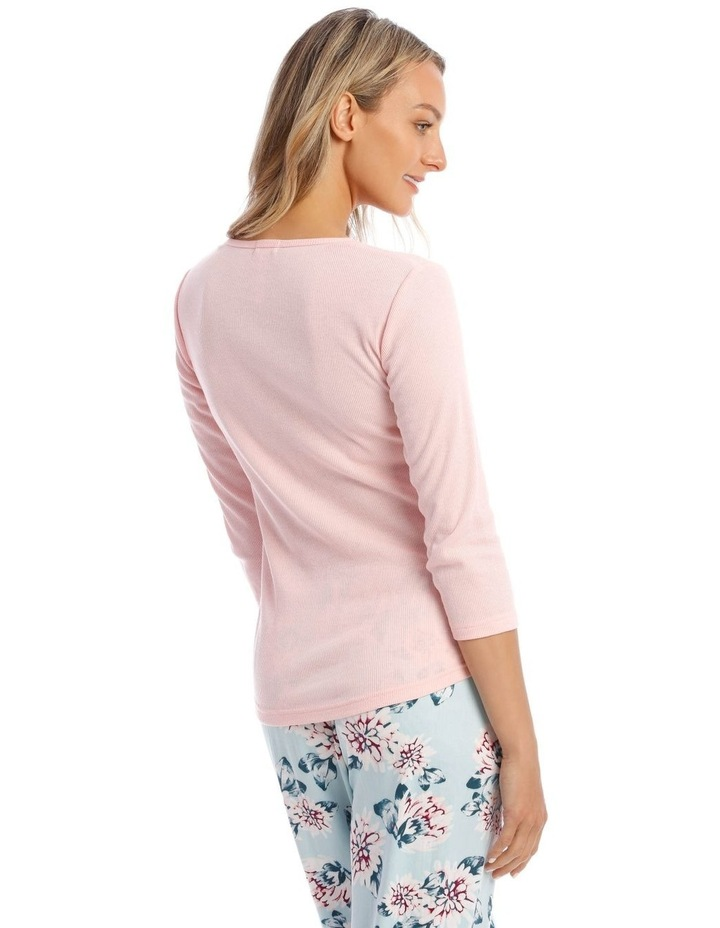Long-Sleeve Knit Top in Pink image 2