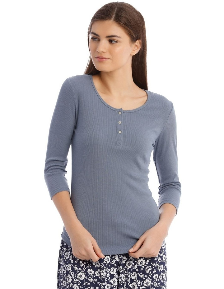 3/4 Sleeve Knit Top in Grey image 1