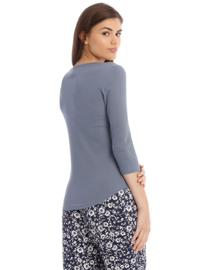 3/4 Sleeve Knit Top in Grey image 2