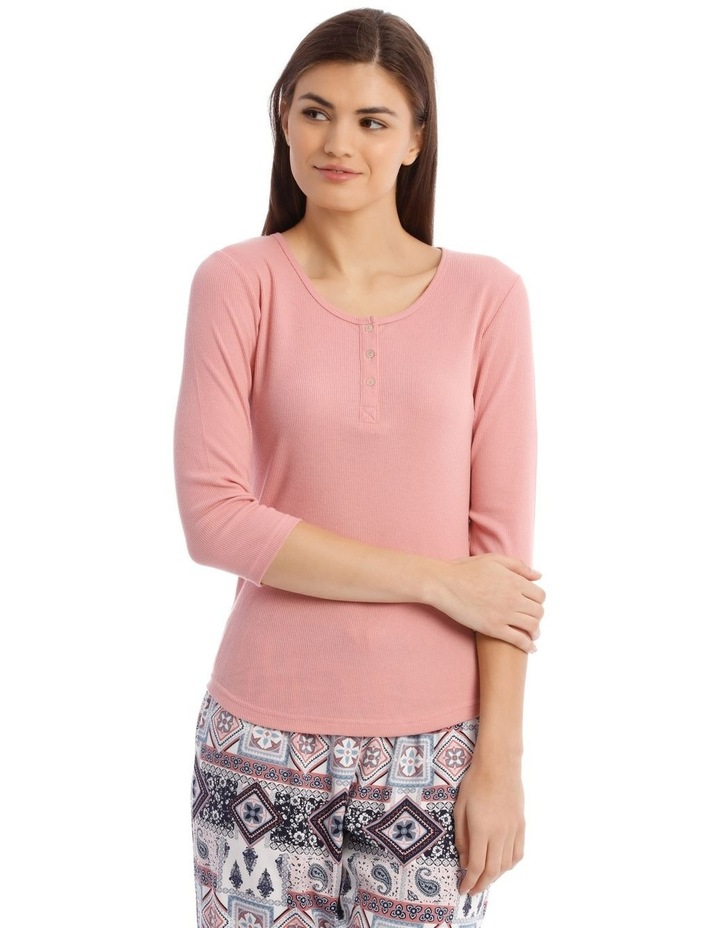 3/4 Sleeve Knit Top in Pink image 1