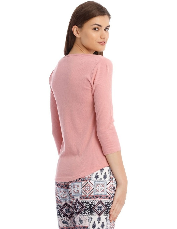 3/4 Sleeve Knit Top in Pink image 2