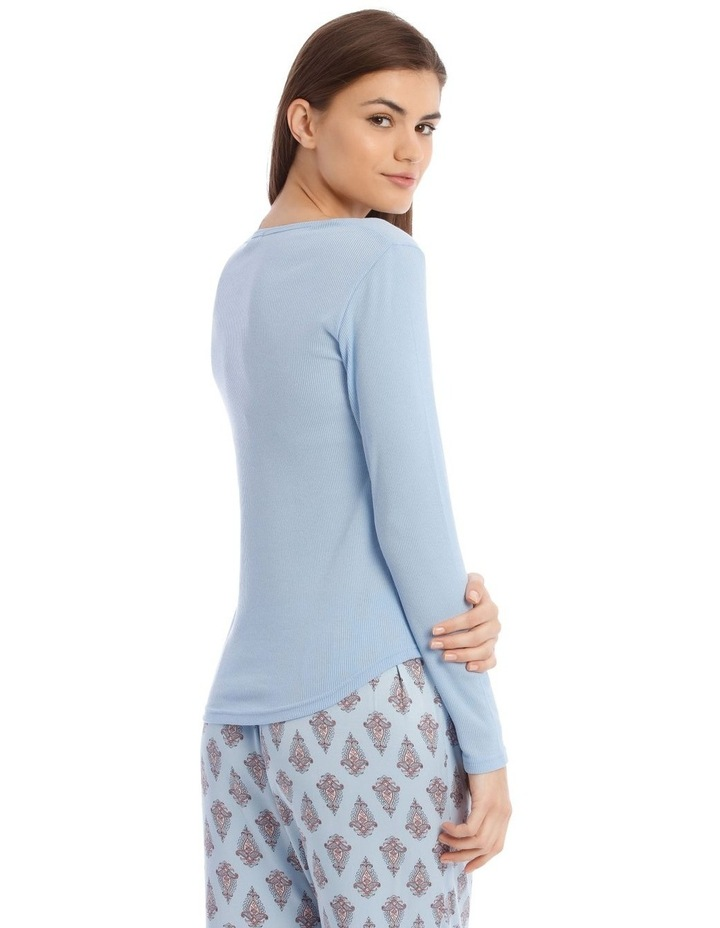 Long-Sleeve Knit Top in Blue image 2