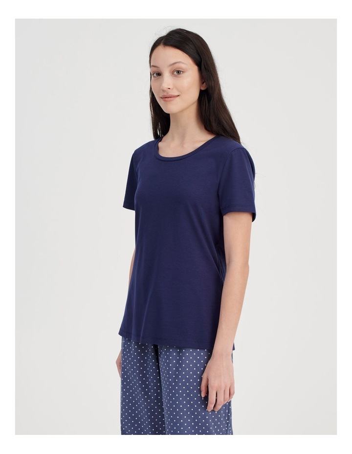 Knit Short Sleeve PJ Top image 3