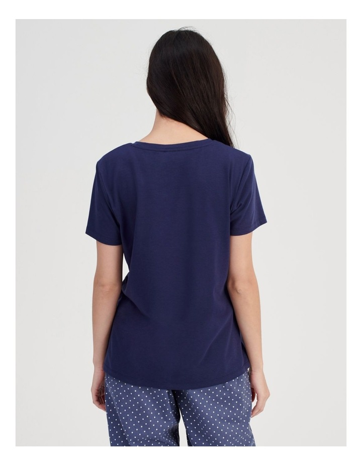 Knit Short Sleeve PJ Top image 4