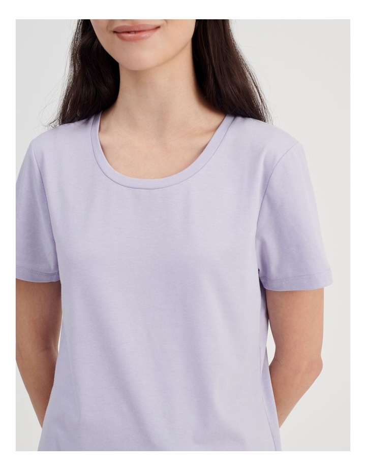 Knit Short Sleeve PJ Top image 5