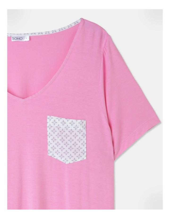 Viscose Elastane V-Neck Tee Pink image 2