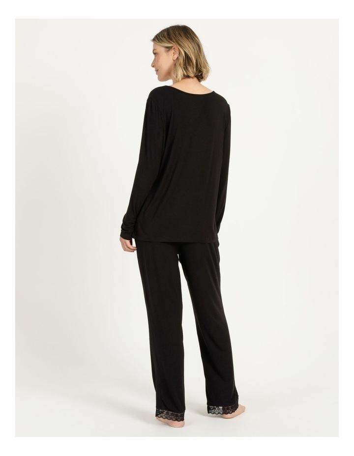 Viscose Elastane Long Sleeve Top Black image 5