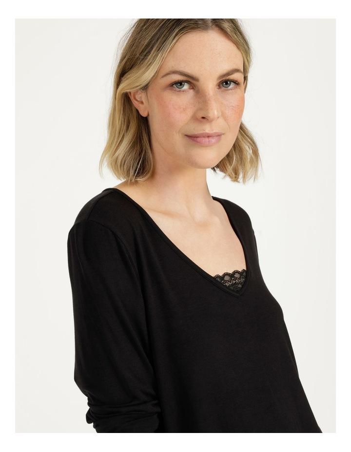 Viscose Elastane Long Sleeve Top Black image 6