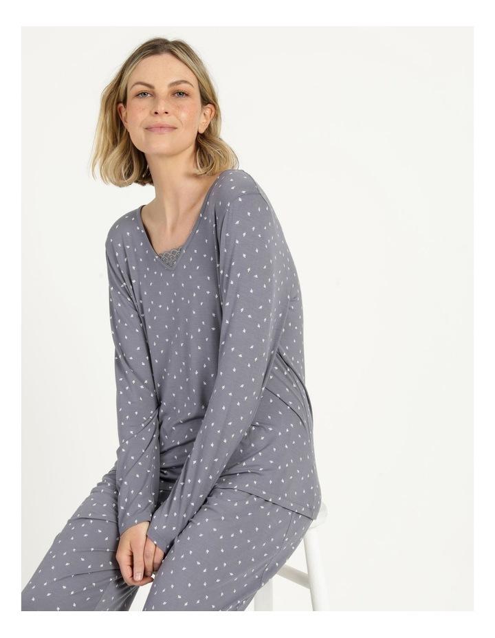 Viscose Elastane Long Sleeve Top Grey image 1
