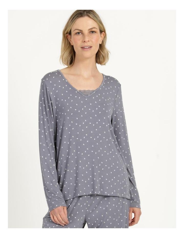 Viscose Elastane Long Sleeve Top Grey image 2