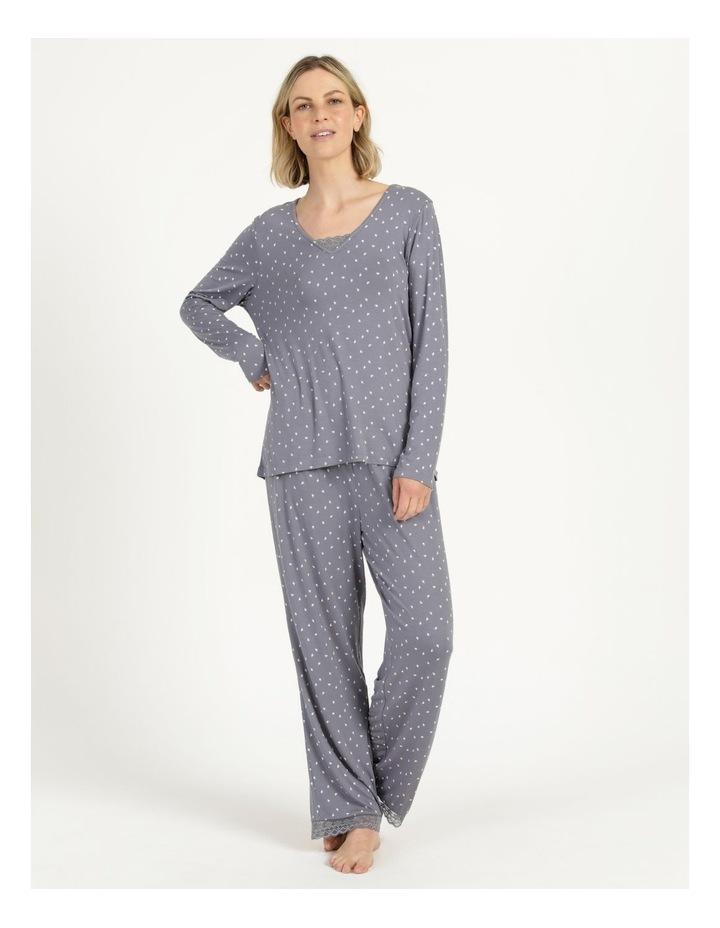 Viscose Elastane Long Sleeve Top Grey image 3