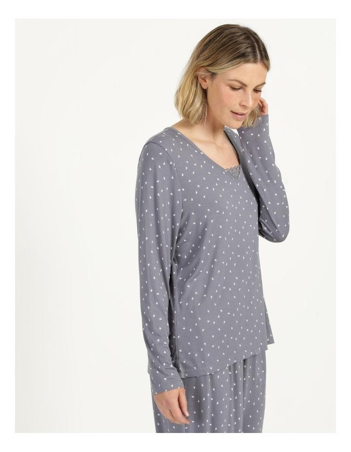 Viscose Elastane Long Sleeve Top Grey image 4