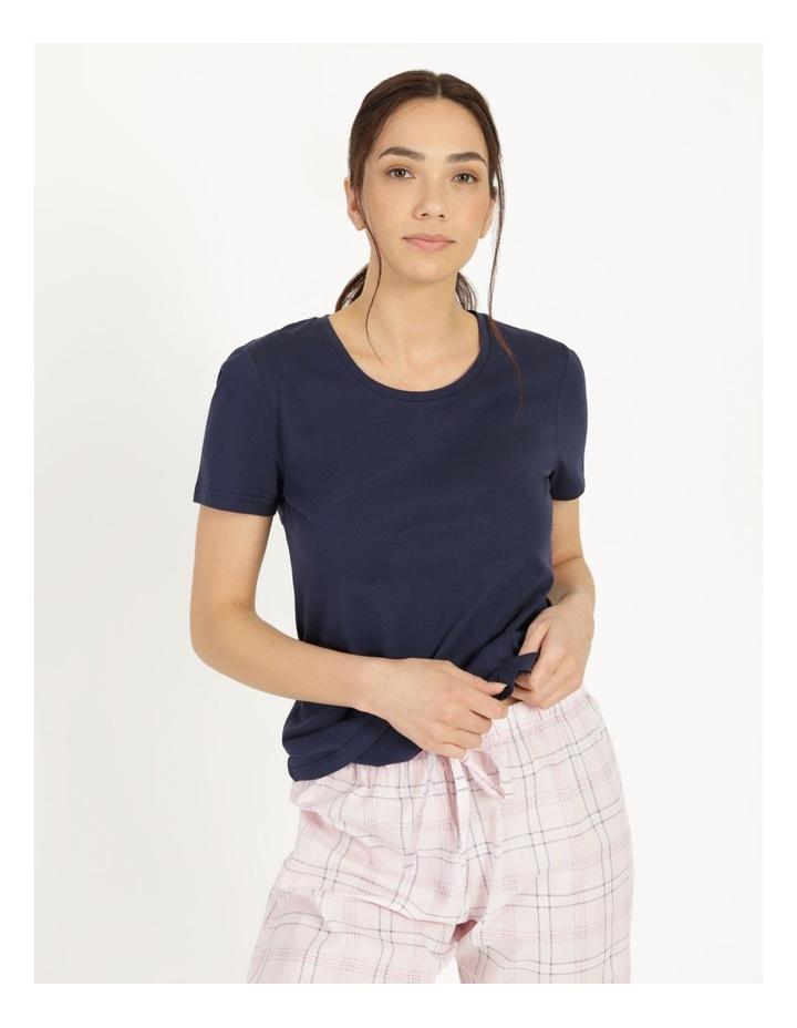 Organic Cotton Knit Short Sleeve Top image 1