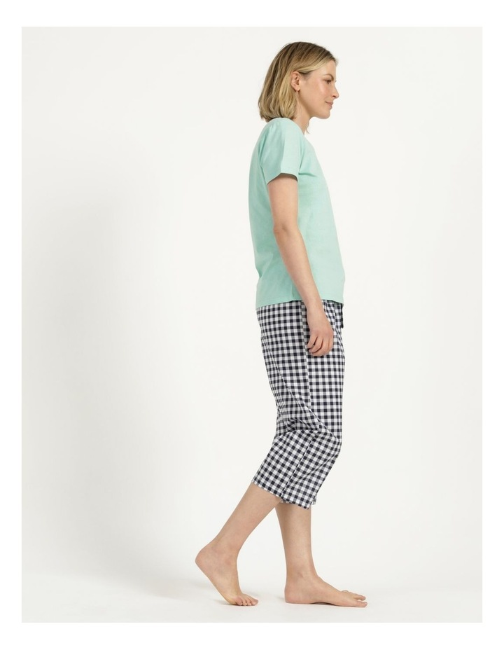 Organic Cotton Knit Short Sleeve Top Mint Slogan image 4