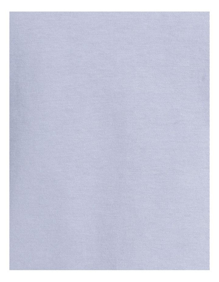 Organic Cotton Knit Short Sleeve Top Blue image 6