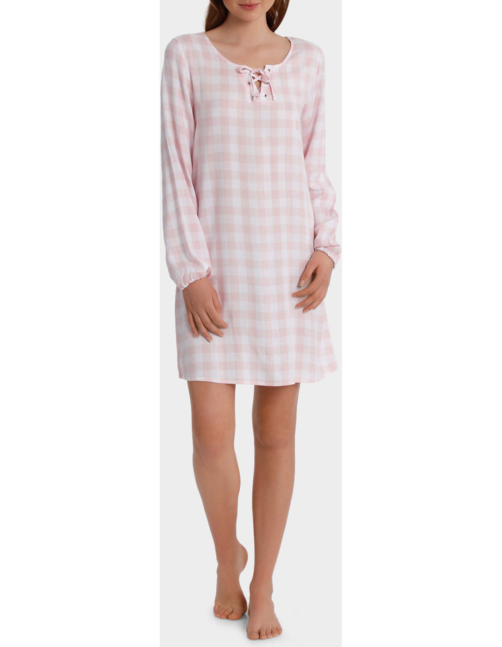 Standing Still Long Sleeve Lace Up Nightie SCLS18053 image 1