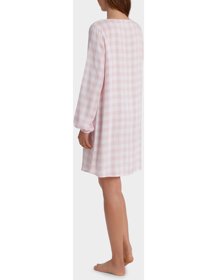 Standing Still Long Sleeve Lace Up Nightie SCLS18053 image 2
