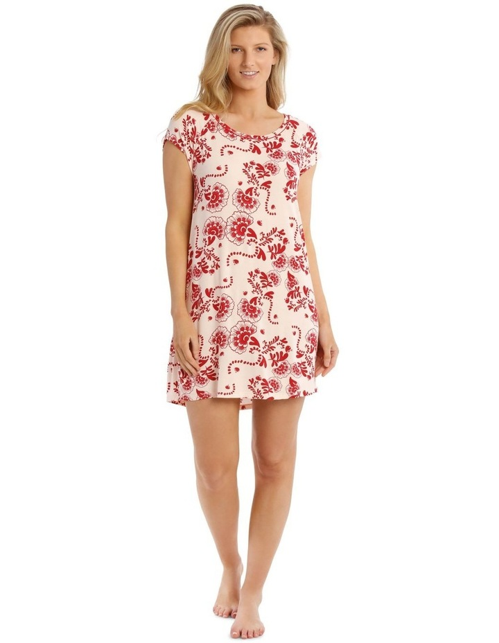 Born Free Short-Sleeve Nightie - Pink Floral image 1