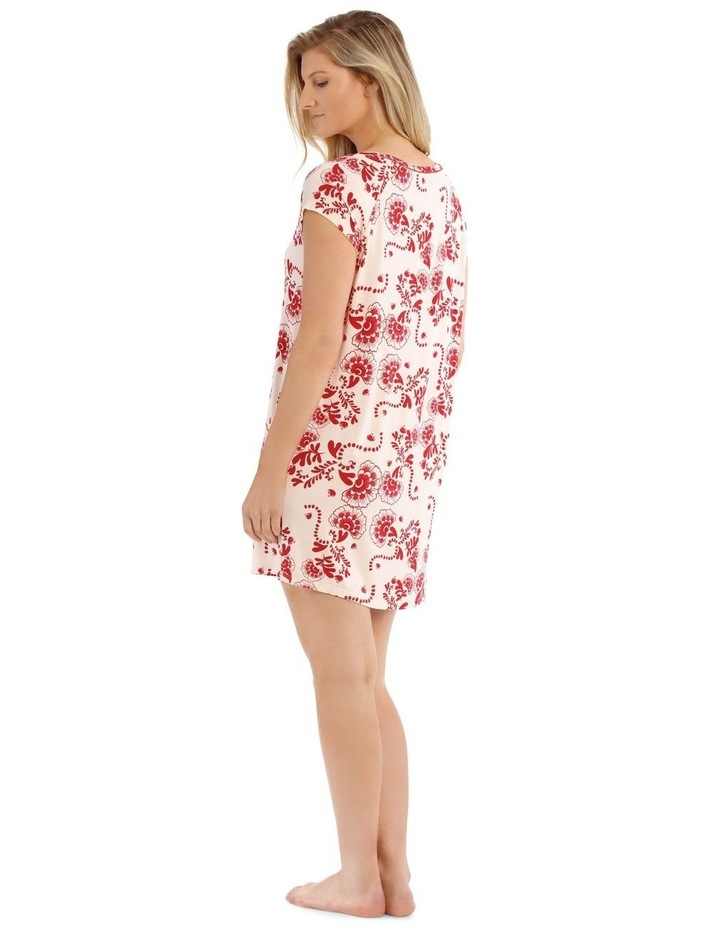 Born Free Short-Sleeve Nightie - Pink Floral image 2