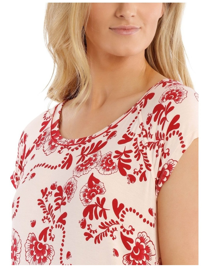 Born Free Short-Sleeve Nightie - Pink Floral image 3