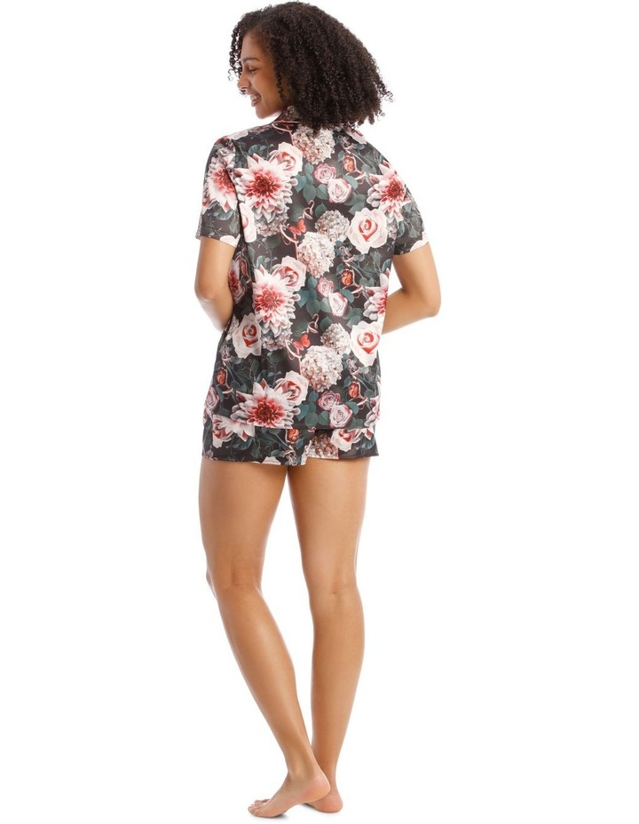Flourishing Night Satin Short Sleeve PJ Set image 2