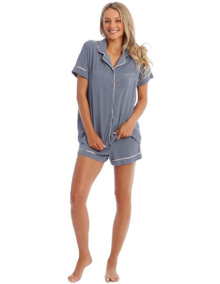 Woven Short Sleeve PJ Set image 1