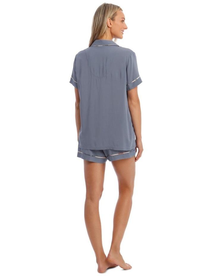 Woven Short Sleeve PJ Set image 2